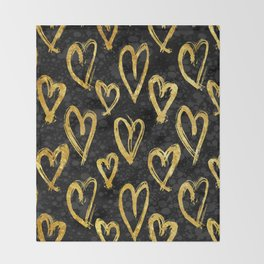 Hearts of Gold Throw Blanket