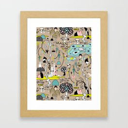 Magical Garden (Beige) Framed Art Print