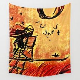 Samurai Woman (Onna-bugeisha) Wall Tapestry
