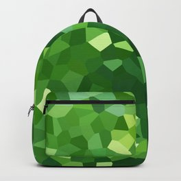Green Polygon Shape Stained Glass Mosaic Abstract Backpack
