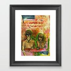 Heart Face Framed Art Print