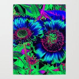 Hippie Flowers Poster
