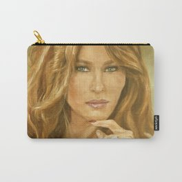 Oil Painting of Flotus, Melania Trump by Lydia Sturges Carry-All Pouch
