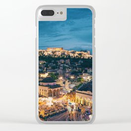 Athens Greece at Dusk Clear iPhone Case