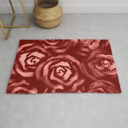 Large Rose Bright Blush Pattern Rug