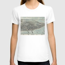 Vintage Pictorial Map of Corpus Christi TX (1887) T-shirt