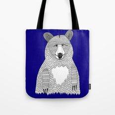 Blue Bear Tote Bag