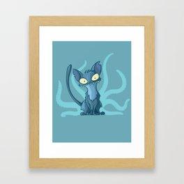 Cat-thulu Framed Art Print