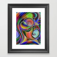 Rainbow Swirl Framed Art Print