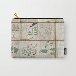 The Voynich Manuscript Quire 1 - Natural Carry-All Pouch