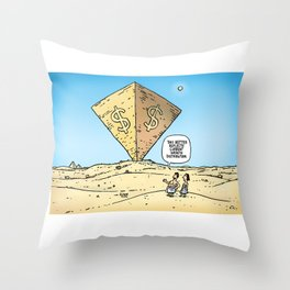 Pyramid of Wealth Throw Pillow