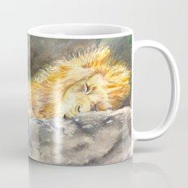 The Lion Sleeps Coffee Mug