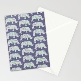 speckled rhinos Stationery Cards