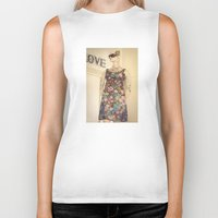vogue Biker Tanks featuring Vogue by Carol Knudsen Photographic Artist