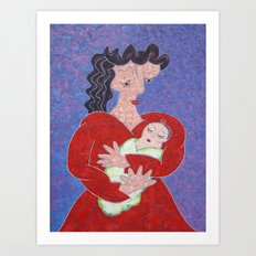 Mother and Baby Art Print