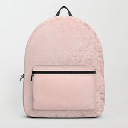 She Sparkles Rose Gold Pastel Pink Luxe Geometric Backpack