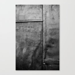 In a Grey Town 1: Churchyard Door Canvas Print