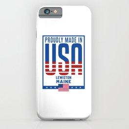 Lewiston Maine iPhone Case