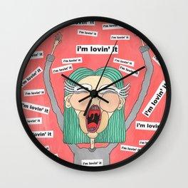 I'm loving it Wall Clock