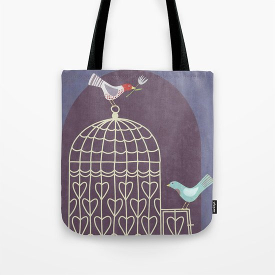 Leaving the Birdcage Tote Bag
