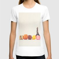 macaron T-shirts featuring Paris, macaron and the eiffel - Vintage version by Nina's clicks