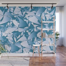 Pattern blue 155 Wall Mural