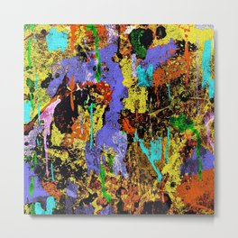 Detour Abstract Art Metal Print