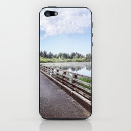"""""""No Fishing"""" Sign on Lonely Bridge iPhone Skin"""