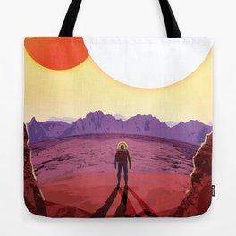 NASA Retro Space Travel Poster #8 Kepler 16b Tote Bag