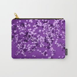 Purple Glitter Stars #1 #shiny #decor #art #society6 Carry-All Pouch