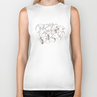 wolves Biker Tanks featuring Wolves by Beth Turnsek