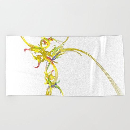 Spiritual Flower Beach Towel