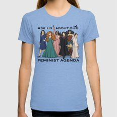 Feminist Agenda Tri-Blue Womens Fitted Tee MEDIUM