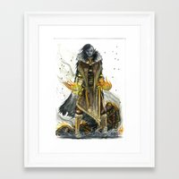 skyrim Framed Art Prints featuring Dark Elf Archmage Dunmer tribute to skyrim by M.A.T Méka-Drepth