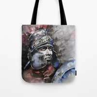 gladiator Tote Bags featuring Gladiator by Tania Richard