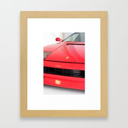 Ferrari Print by K Maono Framed Art Print