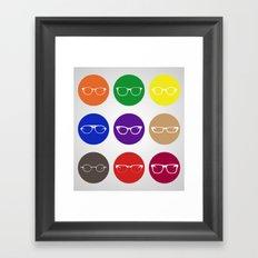 9 Glasses Styles Framed Art Print