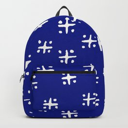 Mudcloth Blue Backpack