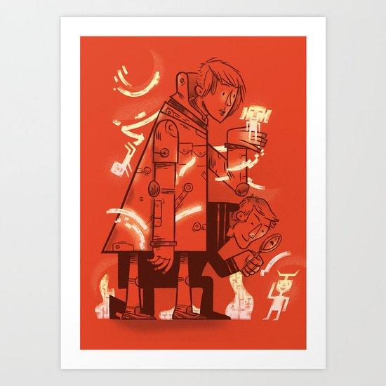 Cross Over Art Print