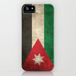 Old and Worn Distressed Vintage Flag of Jordan iPhone Case