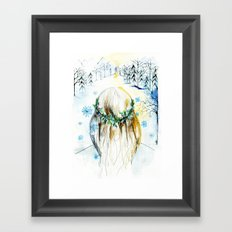 Winter Glow Framed Art Print