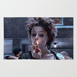 Marla Singer Smoking A Cigarette Rug