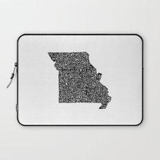 Typographic Missouri Laptop Sleeve