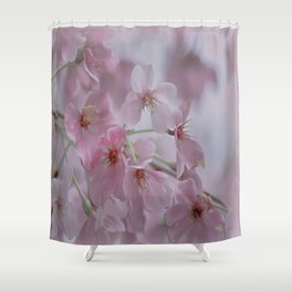 Delicate Pink Blossoms Shower Curtain
