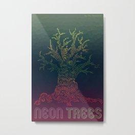 Trees of Neon Metal Print