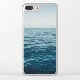 ocean, water, blue sky  -  horizon over water - seascape photography Clear iPhone Case