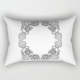 Abstract floral frame Rectangular Pillow