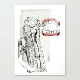 What great big teeth you have Canvas Print