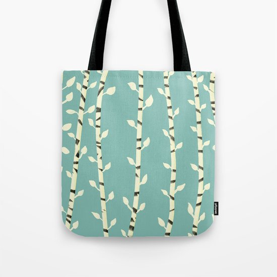 Birch branches blue pattern by stellaatelier
