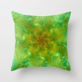 Green spring Throw Pillow